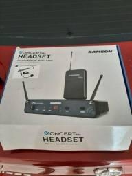 Microfone Samson headset sem fio