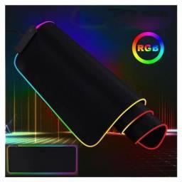 Mouse Pad Com Borda De Led Rgb 7 Cores Exbom Mp-led2535