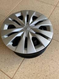 4 rodas de ferro aro 15 com calota Toyota original