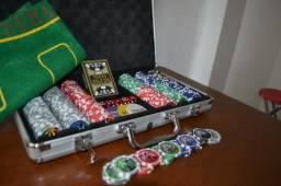 Maleta Poker 300 Fichas baralho especial