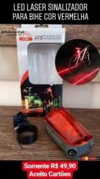 Led laser sinalizador para bike bicicleta