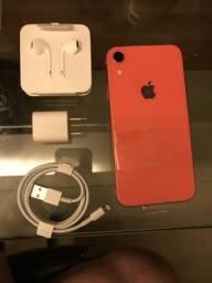 IPhone XR 128gb coral novo zerado