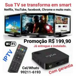 Tv Box MXQ pro, SmartTv, Hdmi, entregamos e instalamos sem taxa adicional
