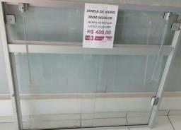 Janela de vidro incolor temperado 400,00
