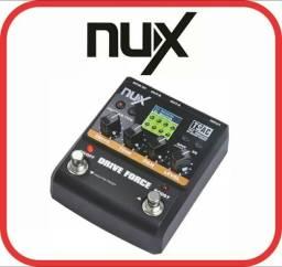 Pedal nux drive Force original, simulador de circuito analógico pedal de distorções