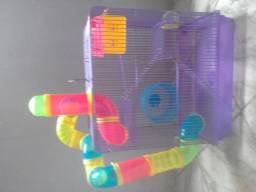 Gaiola 3 Andares Completa Para Hamster - roxa