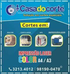 Cortes em XPS , MDF,acrílico , impressão UV, PVC,ACM