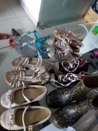 Lote sapatinhos 29 para menina