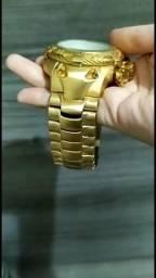 Relogio masculino dourado Atlantis