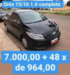 Onix 15/16 1.0 Completo 7.000,00 mais 48x de 964,00