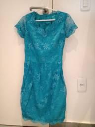 Vendo vestido de festa, verde água