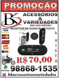 Receptor De Áudio Bluetooth Kp-T84-(Loja BK Variedades) Aceitamos Cartão de Crédito
