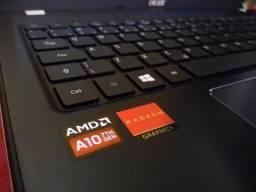 Notebook Gamer Acer AMD A10-9600P + AMD Radeon R8 M445DX de 2GB dedicada