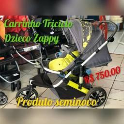 Carrinho Dzieco Unissex Triciclo