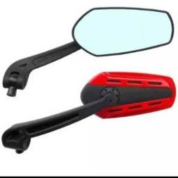 Espelho Retrovisor Modelo Esportivo Para Motos CG Titan Bros CB YES YBR CBX NX XR