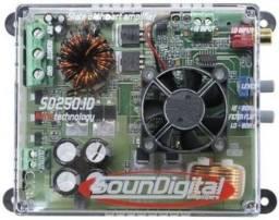 Subwoofer 12 pol. 300wrms + Amplificador + cabo RCA