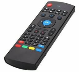 Controle Air Mouse Teclado Smart Tv Pc Sensor de Movimento