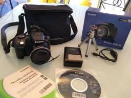 Canon PowerShot SX50 HS com todos os acessórios