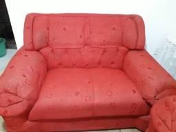 Conjunto de sofá vermelho