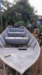 Barco de Alumínio + motor yamaha25 2tempos + carretinha