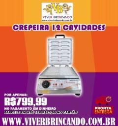 Máquina de crepe no palito 12 cavidades 127V crepeira - Pinheiro