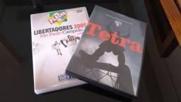 DVDs Libertadores 2005 + Tetra Brasileiro 2006 (SPFC)