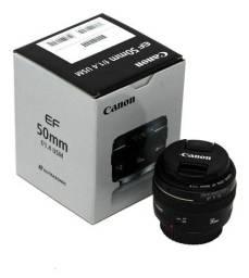 Título do anúncio: Lente Canon 50mm 1.4