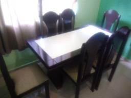 Mesa De Jantar Luxo + 6 cadeiras