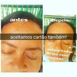 Sobrancelha +Henna +limpeza