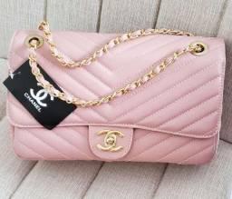Bolsa Chanel Rosê