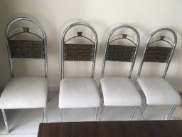 Título do anúncio: Vendo Mesa + 4 cadeiras Aço Nobre
