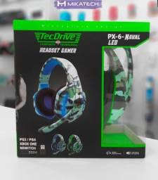 Headset Gamer Px-6 Profissional Ps4,Xbox One, Pc ,Camuflado