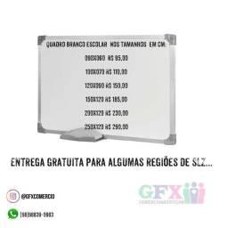 QUADRO BRANCO ESCOLAR DIVERSOS TAMANHOS