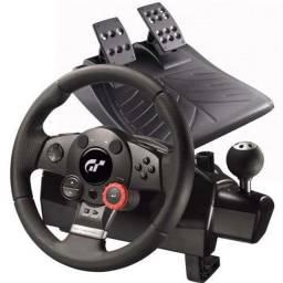 Simulador Volante  logiteck g force com pedais e cokpit