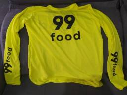 Camisa manga longa 99 food proteção solar motoboy motocicleta entregas