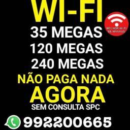 Internet wifi mais tv a cabo