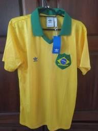 Título do anúncio: Camisa Brasil Adidas Original