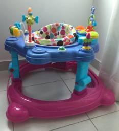 Andador centro de atividades rosa baby style
