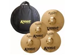 Título do anúncio: Kit Jogo Set de pratos Krest Fusion 10 14 16 20 + bag