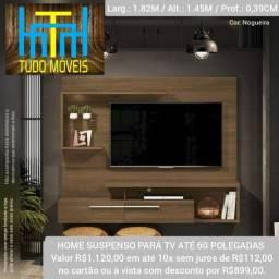"""Título do anúncio:  HOME SUSPENSO P/ TV ATÉ 60"""" / COM LED"""