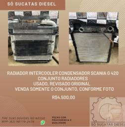 Radiador Intercooler Condensador Scania G 420 Revisado Original