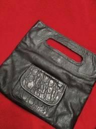 Bolsa/carteira em couro