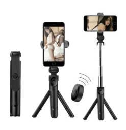 Vara Selfie 3 em 1 para telefone. Tripé telescópico, monopé com controle remoto bluetooth
