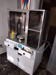 Máquina de fazer churrasco grego semi nova