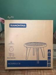 Título do anúncio: Mesa Redonda Plástico Tramontina (Na caixa)