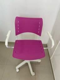 Cadeira escritório rosa