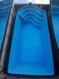 CM-Piscina 6 metros- Escada estilo Onda - Fabricação Alpino Piscinas