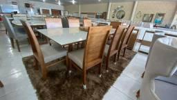 Mesa de jantar RUBI de 8 lugares completa