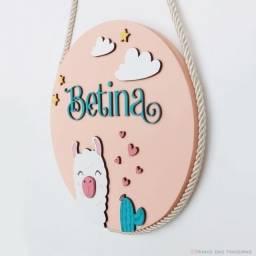 Guirlanda personalizada/ porta de maternidade Lhama