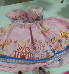 Título do anúncio: Fantasia circo rosa 1ano
